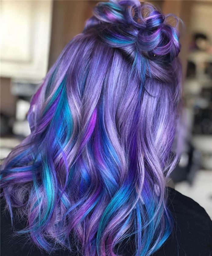 color flower for hair style