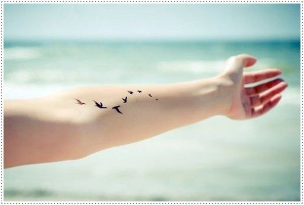 bird girl hand tattoo simple  pictures