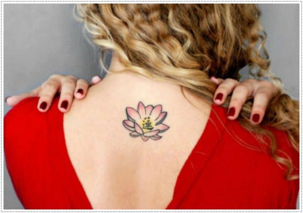 flower lotus small female warrior tattoos designs