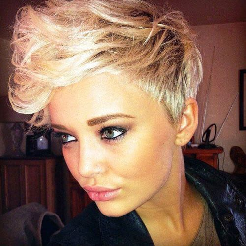 short hair cuts for curly hair round face
