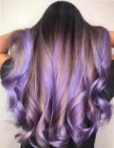 purple color trendy hair style