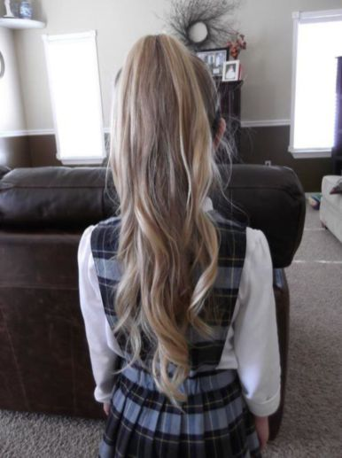 simple hairstyle for school girl black long