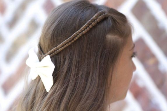 simple hairstyle for school girl images