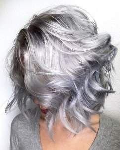 best hair color for stubborn gray silver