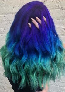 multi green blue color for women hair