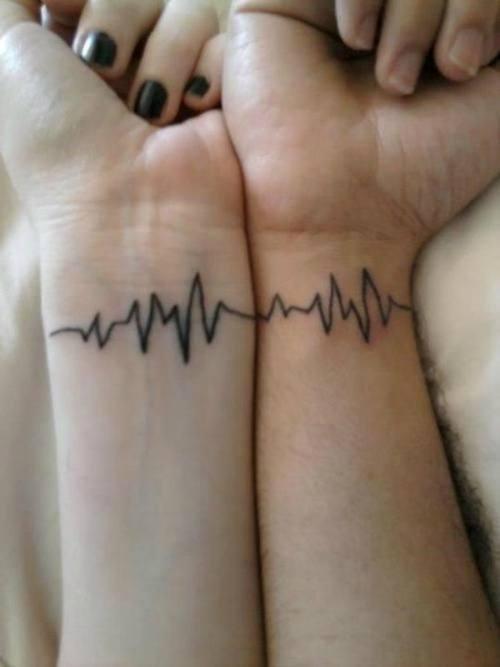him & her tattoos design images on wrist