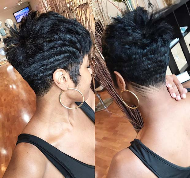 hair style girl for short curly hair black women
