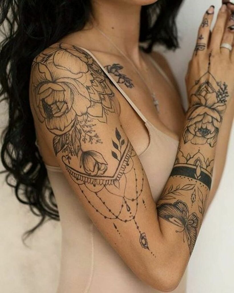 flower henna tattoo designs for hands and shoulder  easy