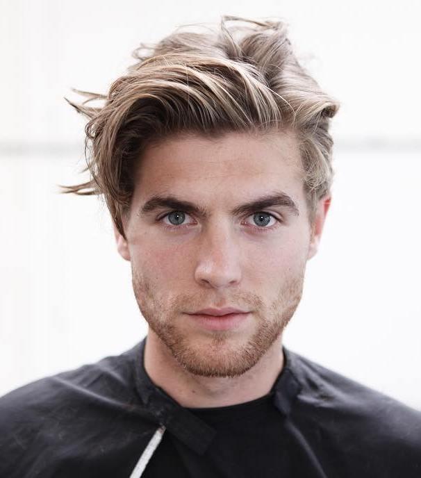 medium hair style pic for man