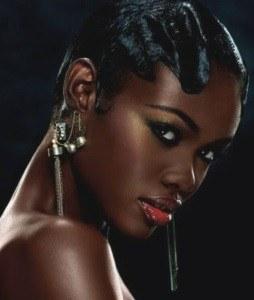 short curly bob cut for black women