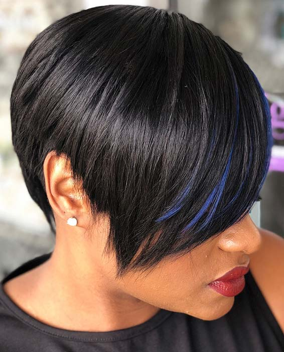 on side short hairstyles for black women