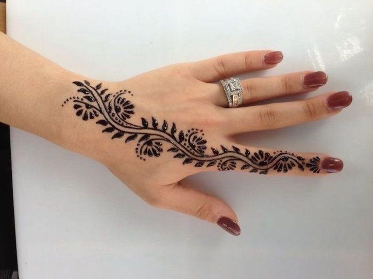 mehndi tattoo new flower hand ideas