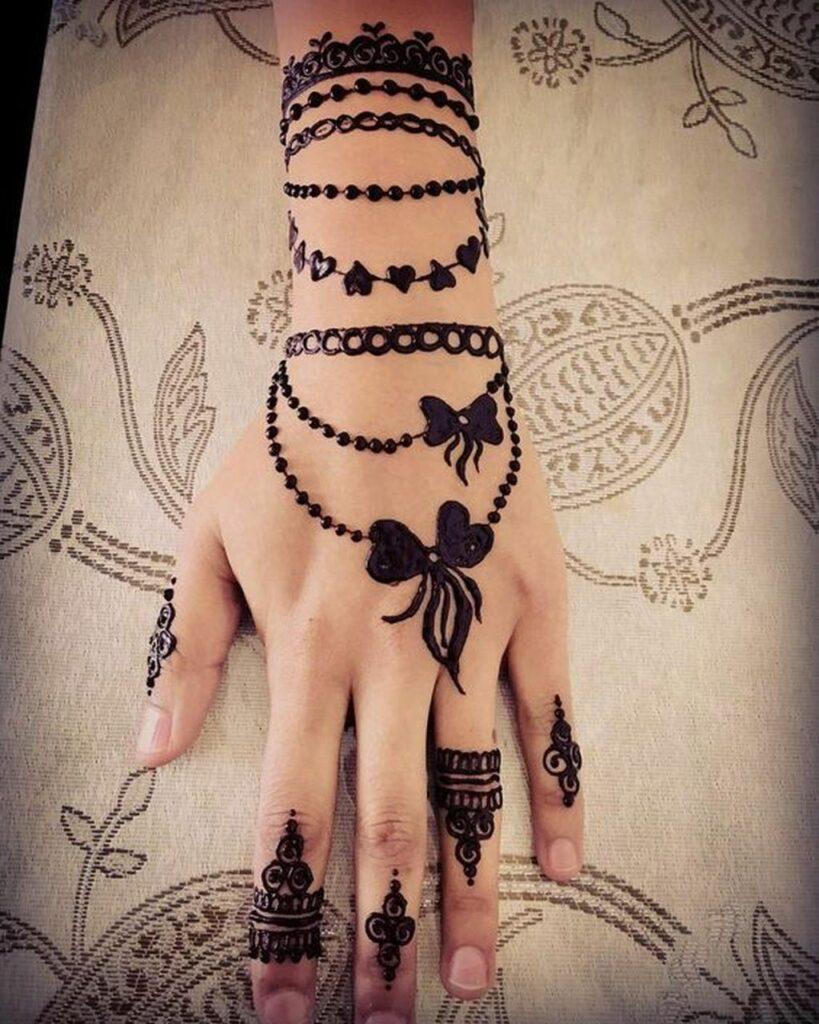 armband black henna finger tattoo designs