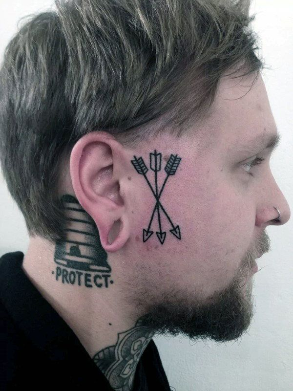 MENS FACE TATTOOS