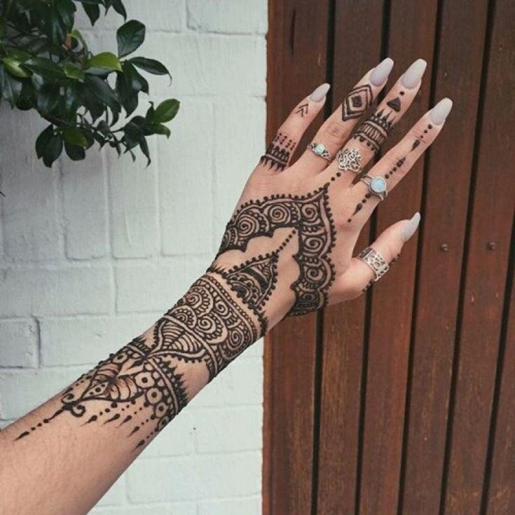 modern mehndi tattoo