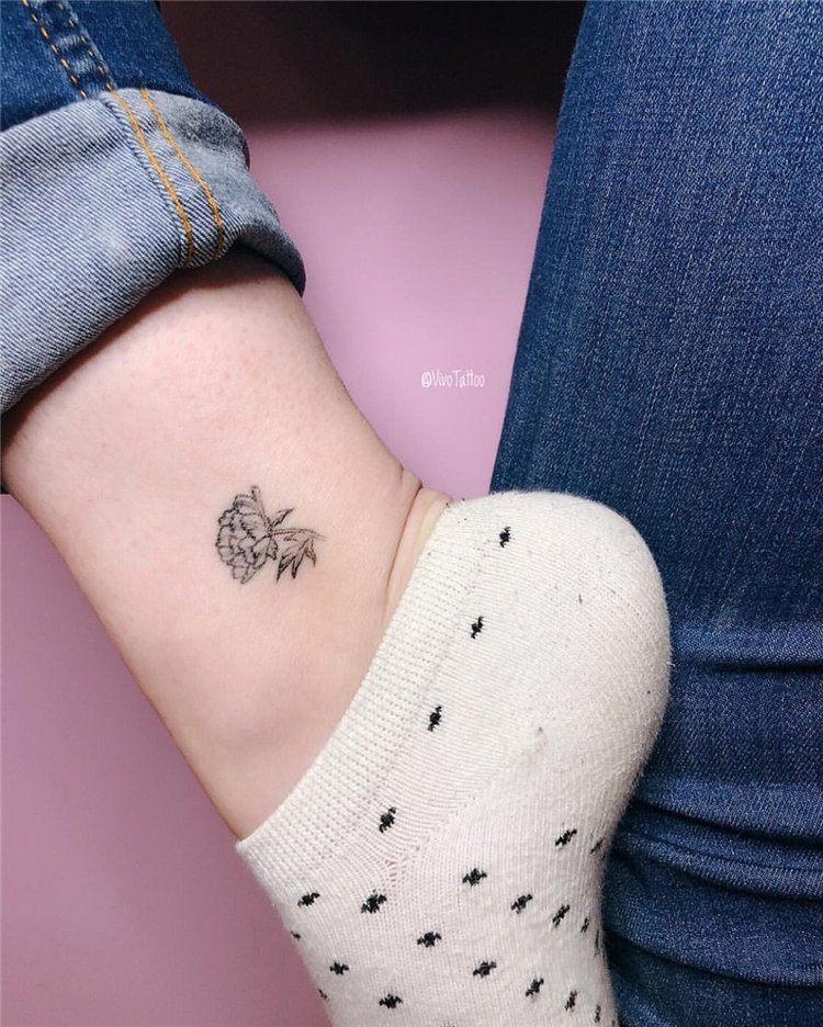 simple flower tattoo for girl leg design