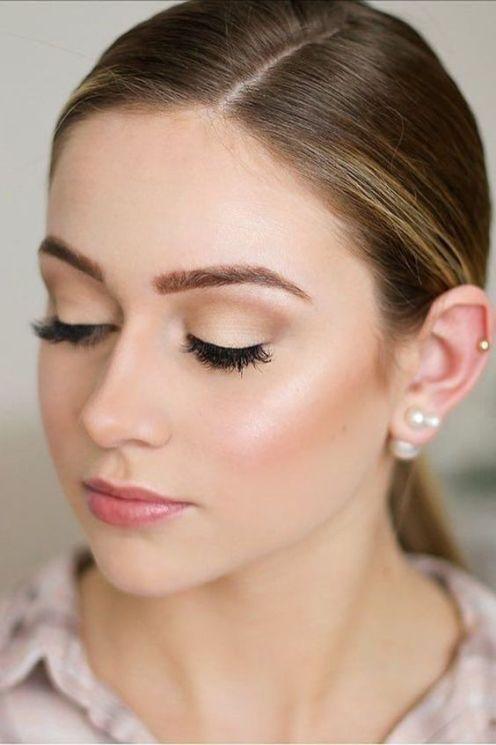 natural makeup bridesmaid