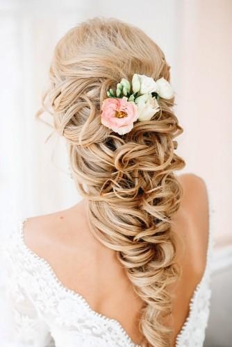 curly wedding hairstyles for medium length hair