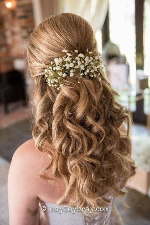 curly wedding hairstyles for shoulder length hair