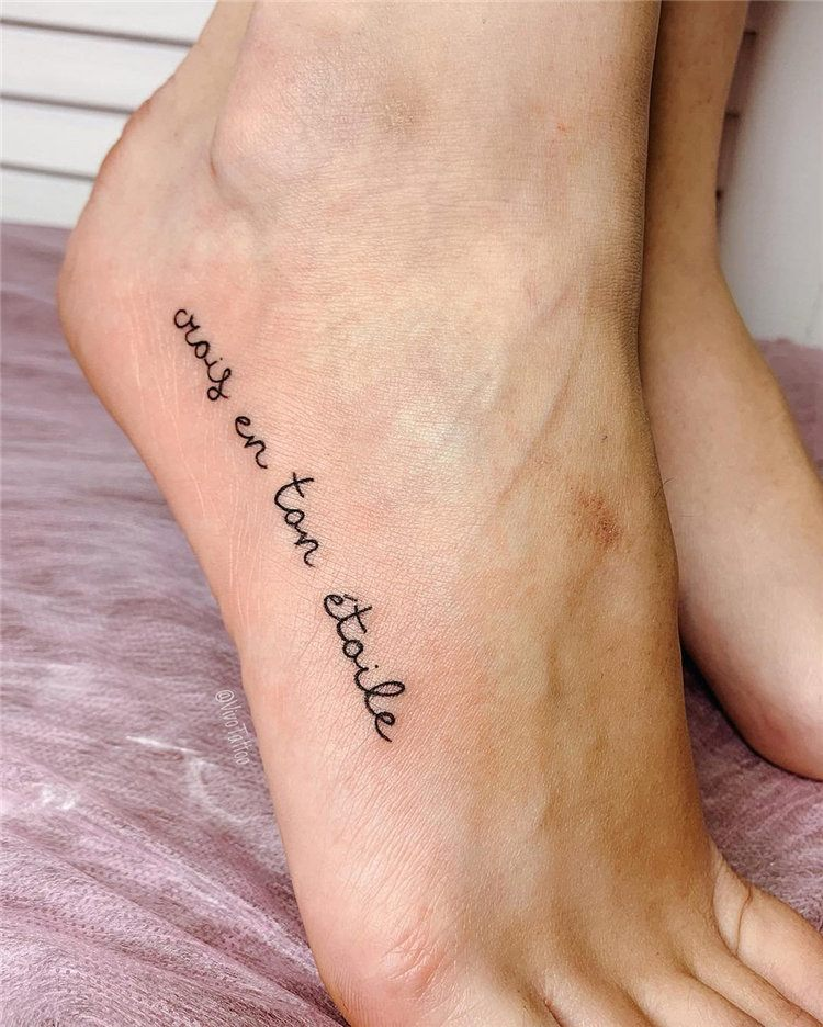 temporary letters ankle tattoos small design for ladies