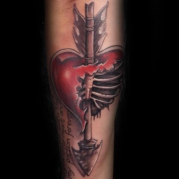 broken heart tattoos are