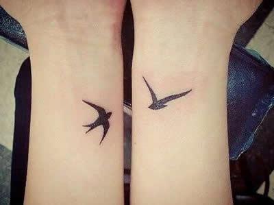 bird couple love tattoo ideas