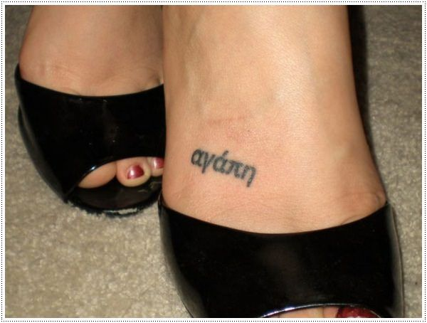 small tattoo in leg for girl