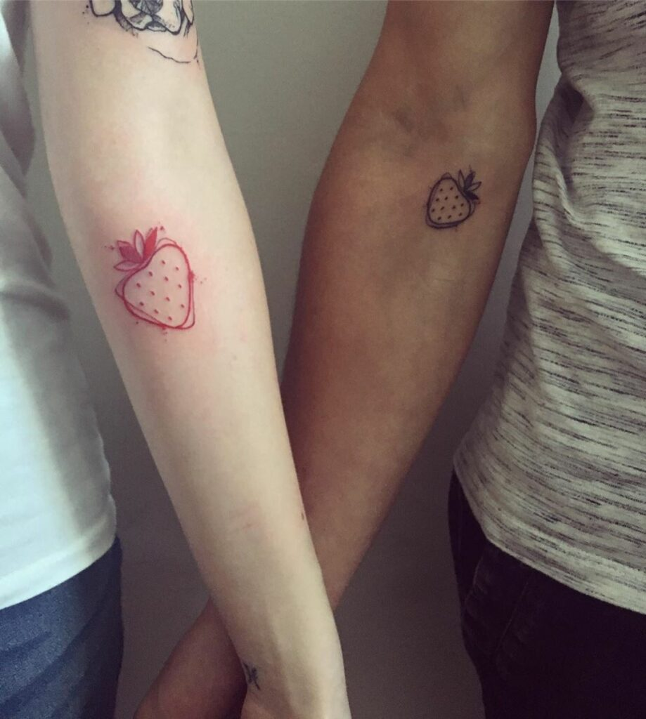 cool couple tattoos on arm