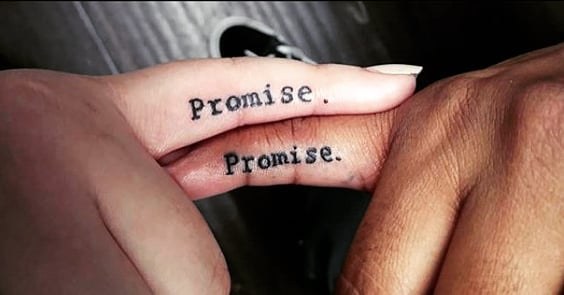 promise his and hers tattoos for couples