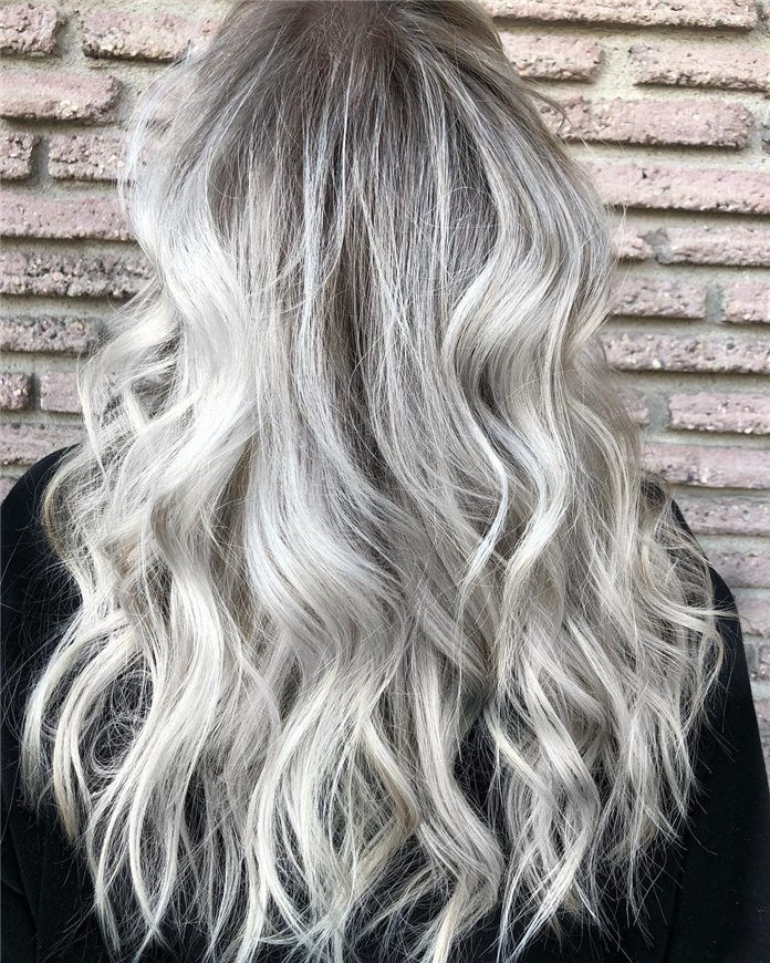 gold color for long hair women ideas