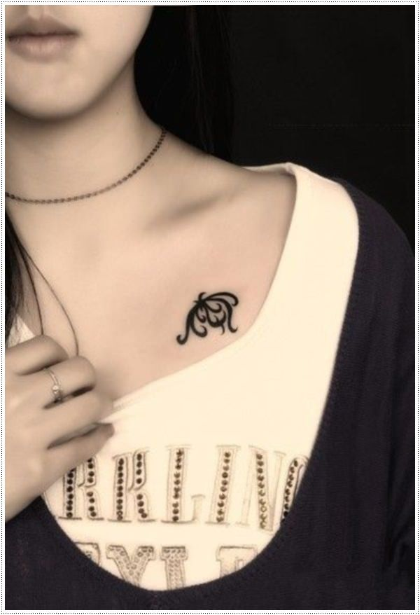 small nautical tattoos for ladies on chest design