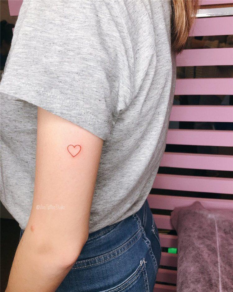 heart cute arm tattoos for females small