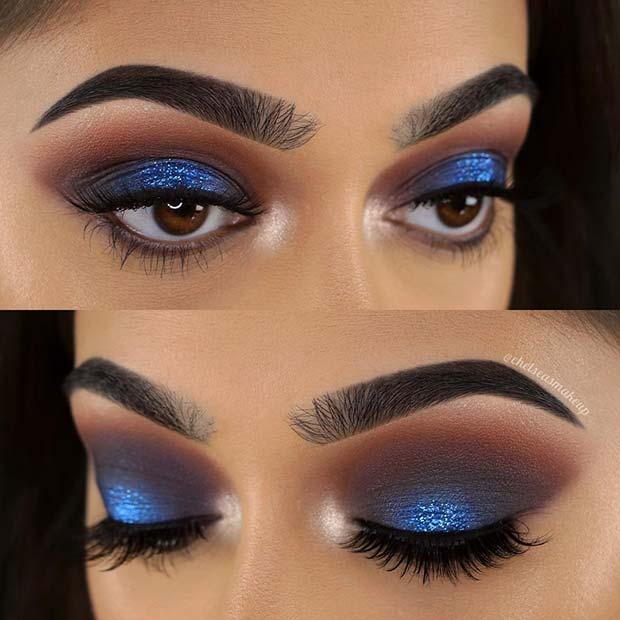blue eyeshadow looks for ladies