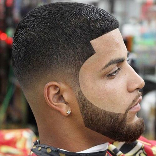 short hairstyles with beard for men