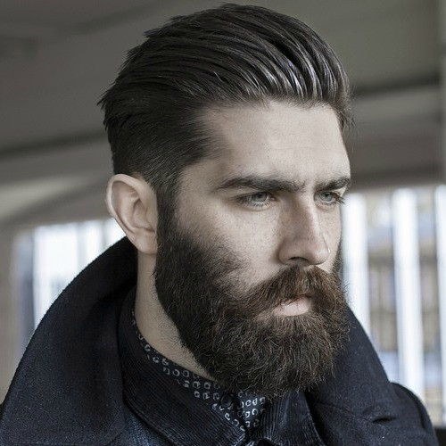 beard styles with long hair