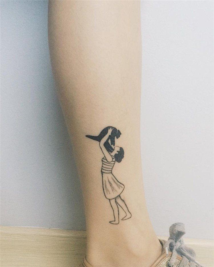 cool cat mini tattoos on leg