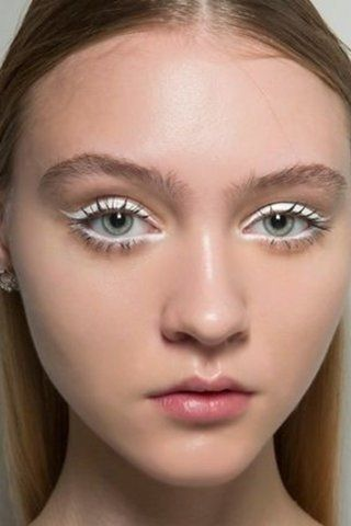 white liner makeup looks