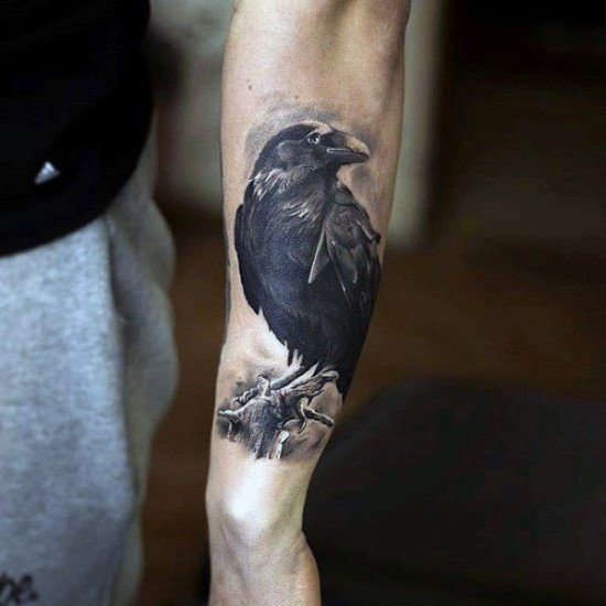 RAVEN TATTOOS FOR GUYS
