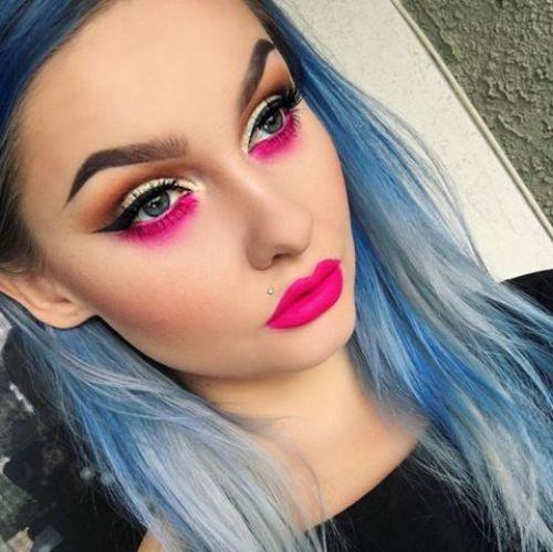 cool pink purple eyeshadow design images