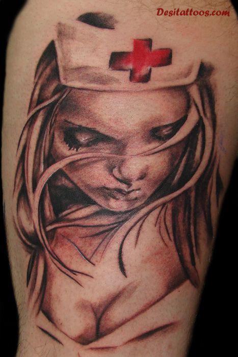 vampire girl tattoo ideas on body