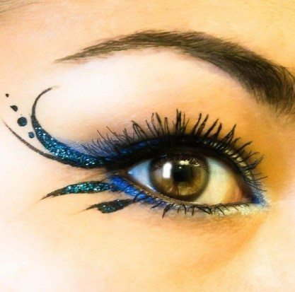 tail purple and blue eyeshadow looks for ladies