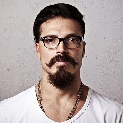 goatee with short beard