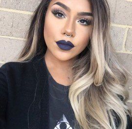 blue and yellow eyeshadow looks images
