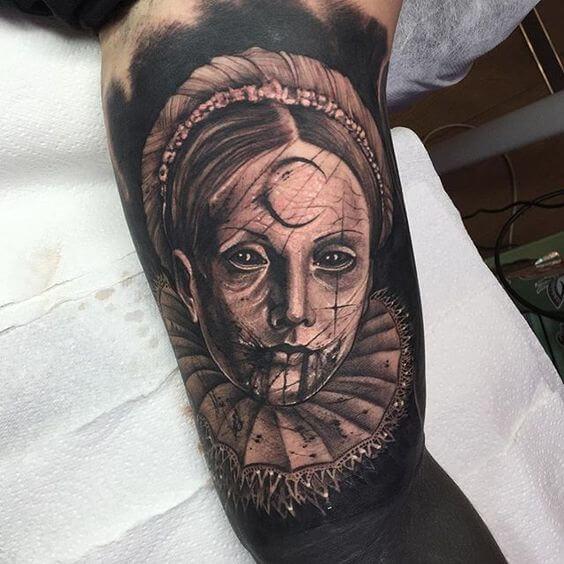 gothic vampire tattoos on arm design