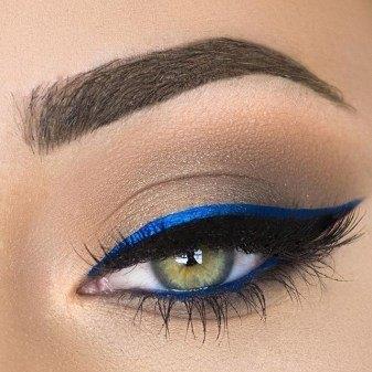 royal blue makeup looks