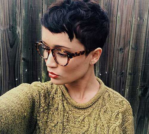 pixie cut for thick wavy hair ladies look