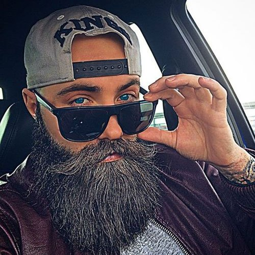 beard fully on man face images