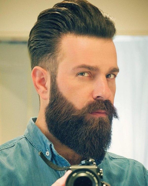 hot man with beard full styles