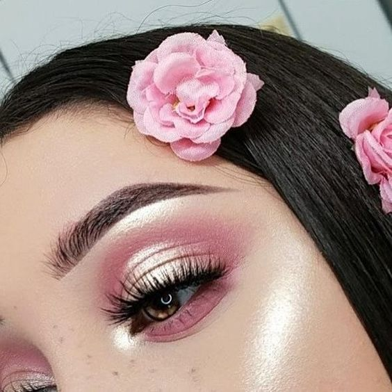 pink and yellow eyeshadow looks  pictures