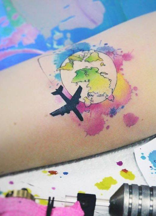 plane new tattoo designs for girls on arm in 2021